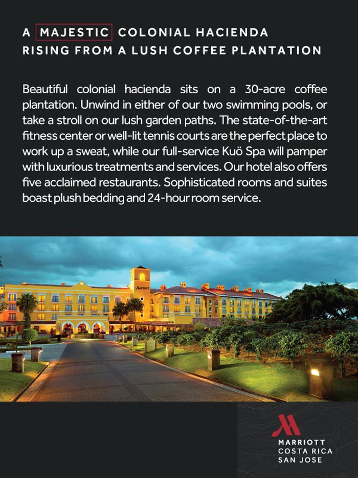 A majestic colonial Hacienda Rising from a lush coffe plantation
